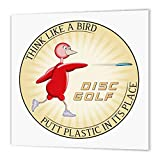 3dRose Think Like 1 red Bird Throwing Frisbee disc Golf Putter-Iron On Heat Transfer, Multi-Colour, x 8-inch