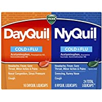 24-Count Vicks Dayquil And Nyquil Combo Pack Cold and Flu Relief Liquicaps