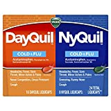 Vicks DayQuil & NyQuil Cough, Cold & Flu Relief, 24 LiquiCaps (16 DayQuil, 8 NyQuil) - Sore Throat, Fever, and Congestion Relief (Packaging May Vary)