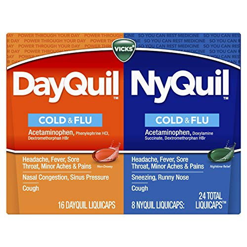 Vicks DayQuil & NyQuil LiquiCaps Only $5.34 (Retail $10.49)