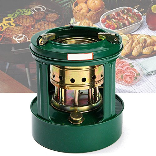 Midream Universal Handy Outdoor 8 mechas de queroseno estufa estufa camping calentadores de aceite para picnics verde