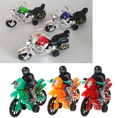 Gwxevce Simulation Modell Motorrad Spielzeug Kinder Fahrzeuge Sammlung Home Ornament Kinder Lustiges Auto Spielzeug Geschenk Motorrad Modell Zufällige Farbe
