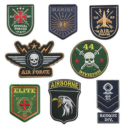 Troopers Set 8 Piezas - Parches termoadhesivos bordados aplique para ropa