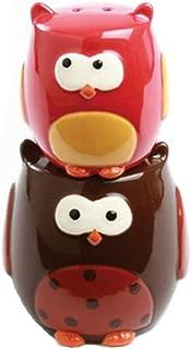 Stacking Owls Hand Painted Earthenware Salt & Pepper Set