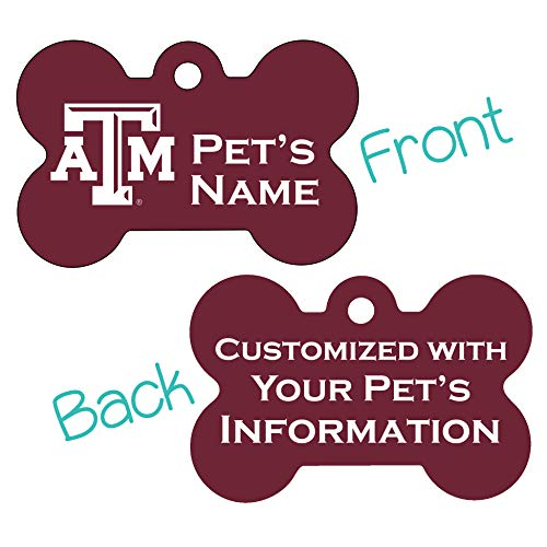 Texas A&M Aggies 2-Sided Pet Id Dog Tag | Officially Licensed | Personalized for Your Pet