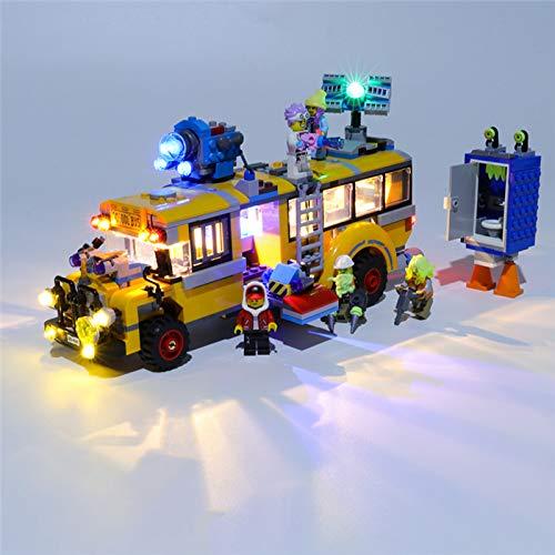 HLEZ USB Juego de Luces de para Bus de intercepción Paranormal 3000 Modelo de Bloques de Construcción, Kit de Luces Compatible con Lego 70423 (Modelo Lego no Incluido)