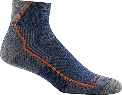 Darn Tough Men's Hiker 1/4 Sock Cushion (Style 1905) Merino Wool - 6 Pack Special (Denim, Large (10-12))