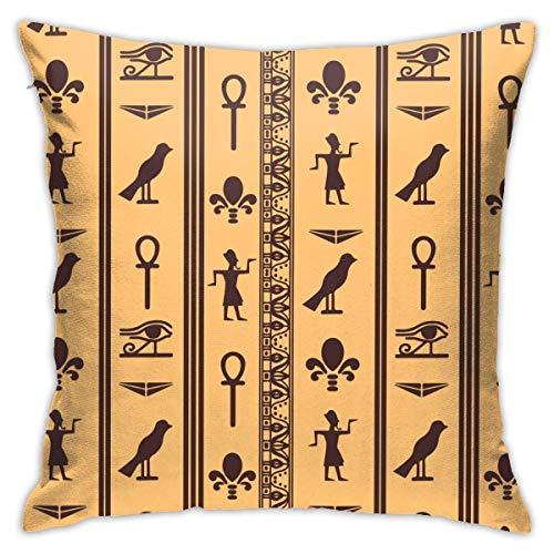 Moily Fayshow Ojo de Horus Patrón Funda de Almohada Funda de cojín Cuadrado Sofá casero Decorativo 40X40 Cm