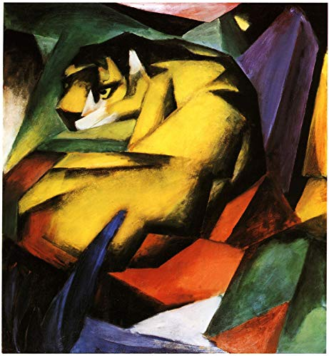 p5786 A2 Poster Franz Marc Tiger Version 2 - Art Painting Movie Game Film - wall Gift Reproduction Old Vintage Decoration