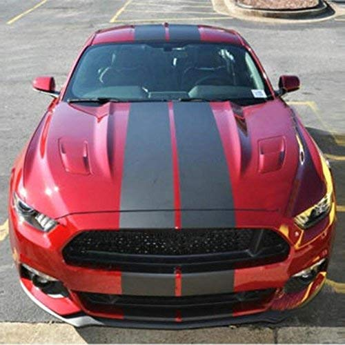 Boilipoint 1Set Decal Sticker Graphic Vinyl Racing Stripe Decal Sticker for Car Decoration Fender, Hood, Roof, Trunk, Skirt, Bumper Compatible with All Cars Truck or SUV Free Size Matte Color