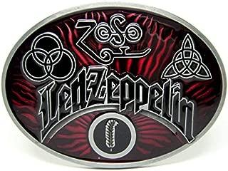 Led Zeppelin Classic Vintage Electric Guitar Rock Music Lot Mens Leather Belt Buckle