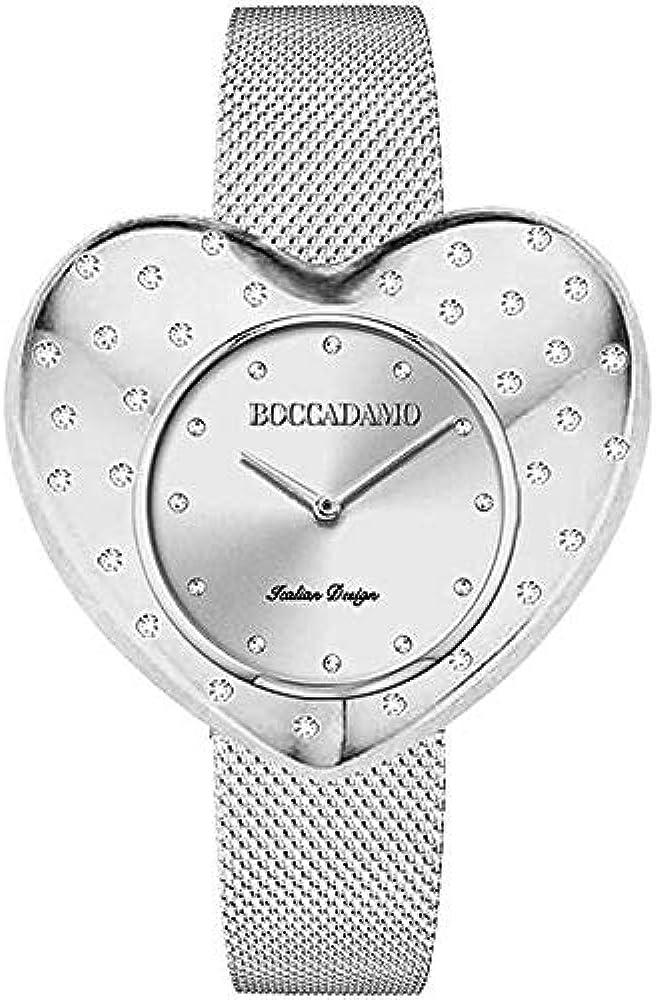 Boccadamo,orologio per donna,in acciaio,e cristalli swarovski CM007
