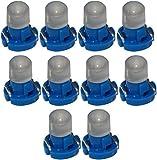 AERZETIX: 10 x Bombillas T3 LED 12V de salpicadero luz Azul