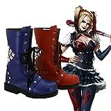 BELUNOT Batman: Arkham Knight Harley Quinn Cosplay Shoes Girls Halloween COS Boots Custom-Made 39 Male Size