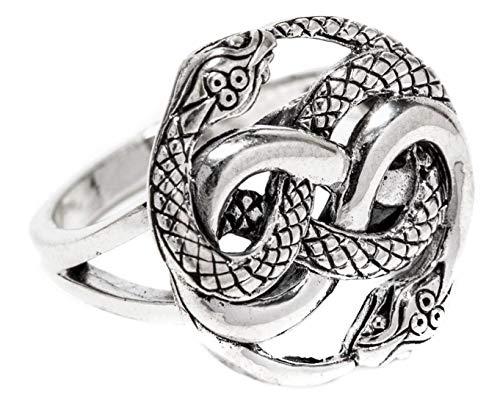 WINDALF Zauber Ring AURIN 1.8 cm Schlangen Schmuck 925 Sterlingsilber (Silber, 60 (19.1))