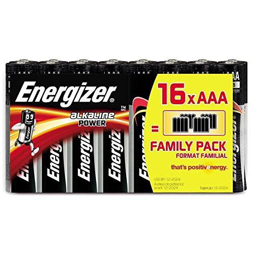 Batterie AAA Energizer Alkaline Power, confezione da 16