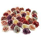 Hugyou - 25 macetas creativas de plástico brillante con diseño de rosas para fiestas