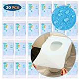 ARTKIVA - 20 PCS Protector WC Desechable Impermeable, Protector Water Desechables Papel Cubre...