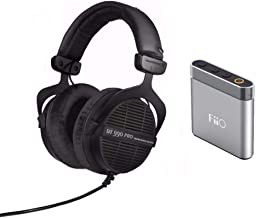 beyerdynamic DT 990 PRO 250 ohm - Limited Edition (Black, Straight Cable) with FiiO A1 Portable Headphone Amplifier