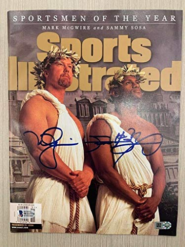 Mark McGwire and Sammy Sosa Signed Sports Illustrated Magazine Beckett MLB Holo - Autographed MLB Magazines