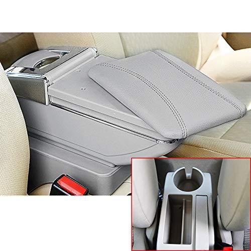 Muchkey Accoudoir de voiture pour Jetta MK5 Golf MK5 6 2005-2011 Accoudoir de la console centrale en cuir PU Accessoires de décoration intérieure