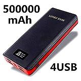 QUALITÉ 4 USB 50000mAh Power Bank LCD LED Chargeur de Batterie de Secours pour Tous Les appareils