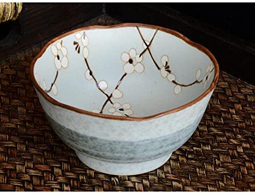 Ceramiczna stołowa oprogramowanie japońskie koronki wysokich stóp ryżowe miska mała miska glazura-Borówka amerykańska