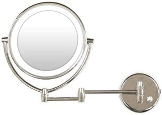 Rucci Normal View Chrome Wall-Mounted LED Lighted Mirror, 7X