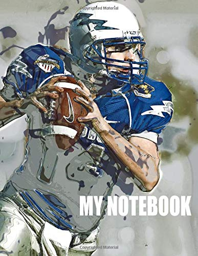 My Notebook. For Football Fans. Blank Lined Planner Journal Diary.