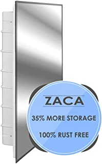 Zaca Spacecab Nunki Recessed Beveled Edge Medicine Cabinet, 16