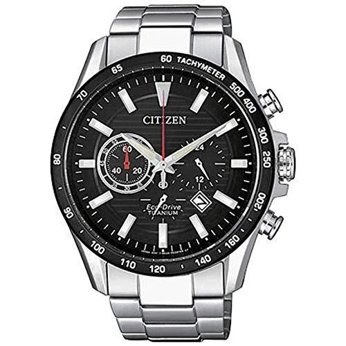Citizen herrenuhr Super Titanium Chronograph Schwarzes Zifferblatt CA4444-82E