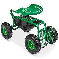 Wheelie garden cart.