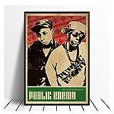AZTeam Public Enemy Music Sänger Poster Hip Hop Rap Musik