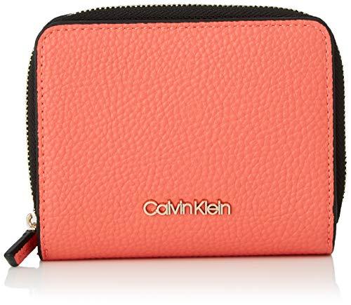 Calvin Klein Damen Sided Ziparound Md W Flap Geldbörse, Rot (Coral), 1x1x1 cm