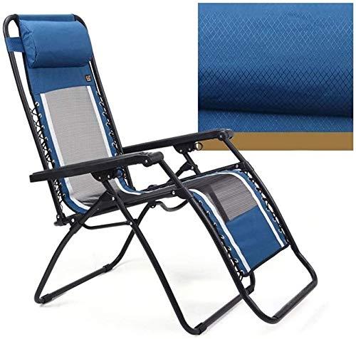 Aoyo Anziani Sdraio da Spiaggia, Tumbona Plegable Playa, Silla Playa, Mesh Traspirante Ufficio Couch, Pieghevole Sdraio da Spiaggia, Pausa Pranzo Beach Chair