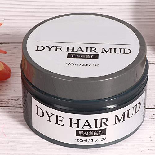 Crema para teñir el cabello, lodo de tinte para el cabello no irritante para la belleza, para el hogar, para hombres y mujeres(Púrpura, Papá Noel)