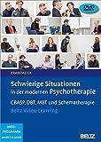Schwierige Situationen in der modernen Psychotherapie: CBASP, DBT, MBT und Schematherapie. Beltz Video-Learning. 2 DVDs mit 24-seitigem Booklet. Laufzeit 244 Min.