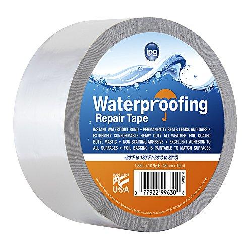 Intertape WR210 Silver Waterproofing Repair Tape, 17 mil, 1.88' x 10 yd