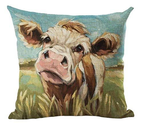Hugyou - Funda de almohada con diseño de ganado