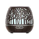 Nrpfell Smart WiFi Difusor de Aceite InaláMbrico Humidificador de Aire Control de AplicacióN Mist Maker con Amazon Alexa Home Madera Oscura Enchufe de la UE