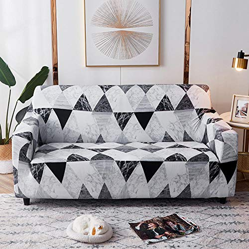 Cubre Sofas Ajustables 2 plazas 1 Uds, Fundas de sofá Impresas en Forma de L para Sala de Estar, Fundas elásticas elásticas Protectoras de sofá para Esquinas