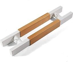 JF-leuningen Schuif massief hout roestvrij stalen deurgreep, Vierkante buis schuifdeurgreep, Geschikt voor glazen deur/hou...