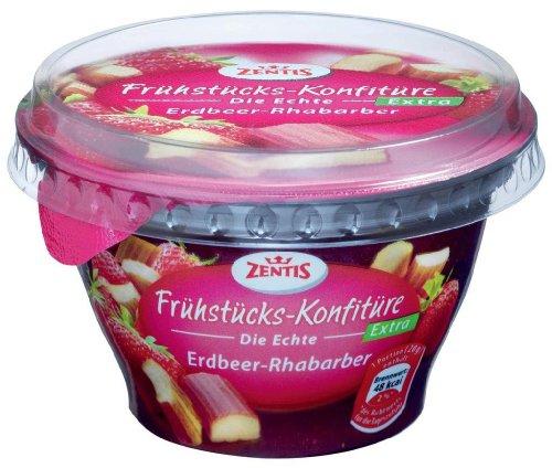 Zentis - Frühstücks-Konfitüre extra Erdbeer-Rhabarber - 200g
