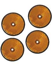 4 stuks reflectoren oranje rond hanger kattenoog reflector vrachtwagen caravans personenauto