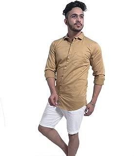 Prince Garments Golden Satin Shirt for Men