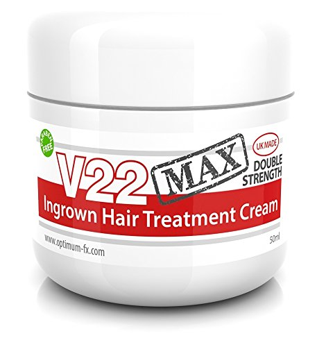V22 MAX Ingrown Hair Treatment Cream Double Strength Paraben and Cruelty Free - 50ml
