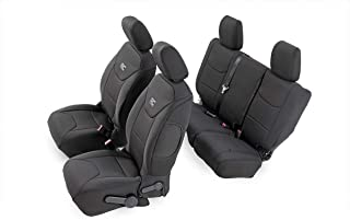 Rough Country Neoprene Seat Covers | (fits) 2013-2018 Jeep Wrangler JK 4DR | 1st/2nd Row | Water Resistant | | 91004