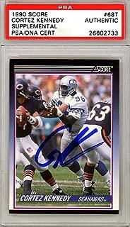 Cortez Kennedy Signed 1990 Score Rookie Card #68T Seattle Seahawks - PSA/DNA Certified