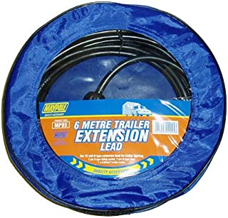 MSA 6m Trailer Extension Lead Light Cable for Lighting Boards Trailer Caravans Wire 6 meter