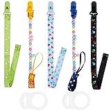 Lictin 5 Pcs Cadenas para chupetes chupetero bebé clips con adorable diseño -...